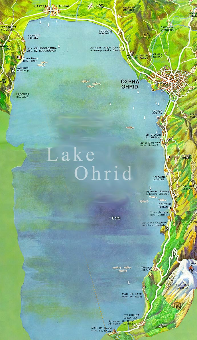 map of ohrid lake